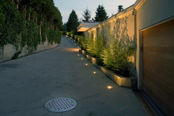 In Ground Driveway Lighting Ideas