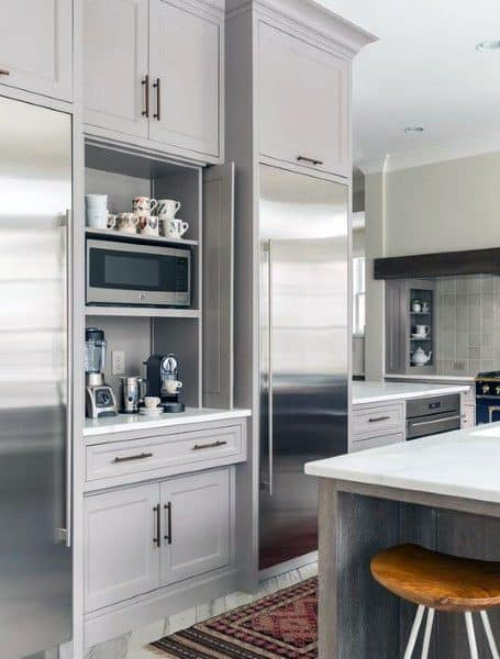 In Kitchen Built In Coffee Bar Ideas