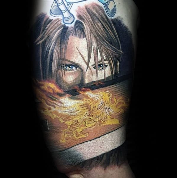 incredible quarter sleeve final fantasy mens tattoo ideas