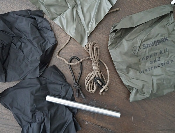 Included Repair Kit Snugpak Scorpion 3 Tents