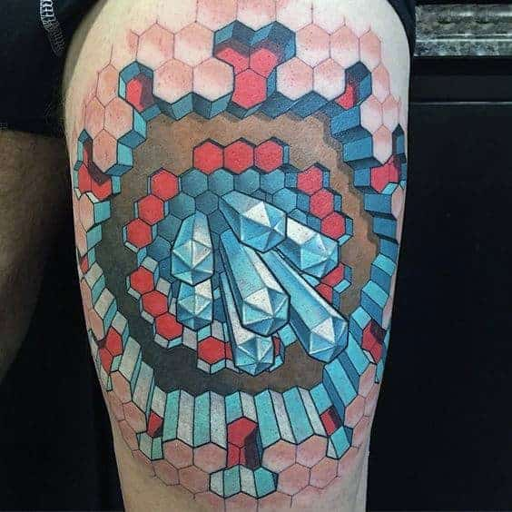 incredible-3d-optical-illusion-male-thigh-tattoo-designs