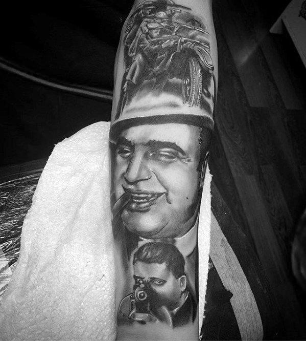 Incredible Al Capone Tattoos For Men
