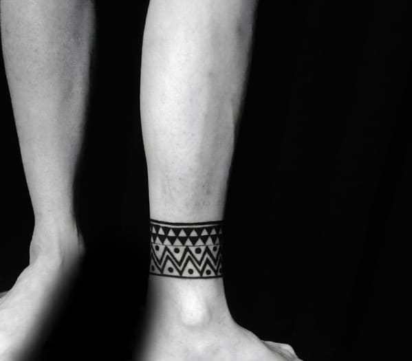 Incredible Ankle Band Tattoos For Men