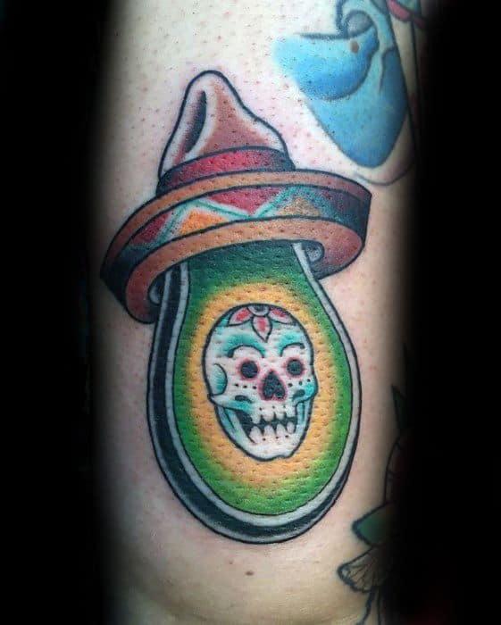 Incredible Avocado Tattoos For Men