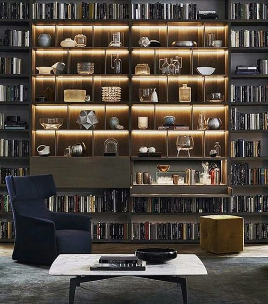 Incredible Bachelor Pad Living Room Bookcase Ideas