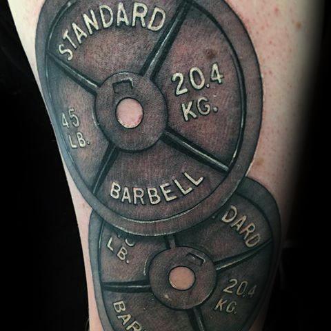 Incredible Barbell Tattoos For Men