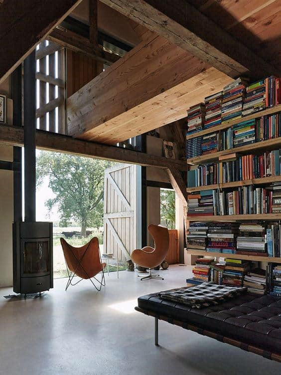 Incredible Barn With Home Library