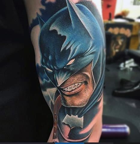 Incredible Batman 3d Arm Tattoos For Guys