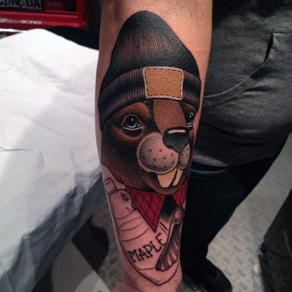 Incredible Beaver Tattoos For Men