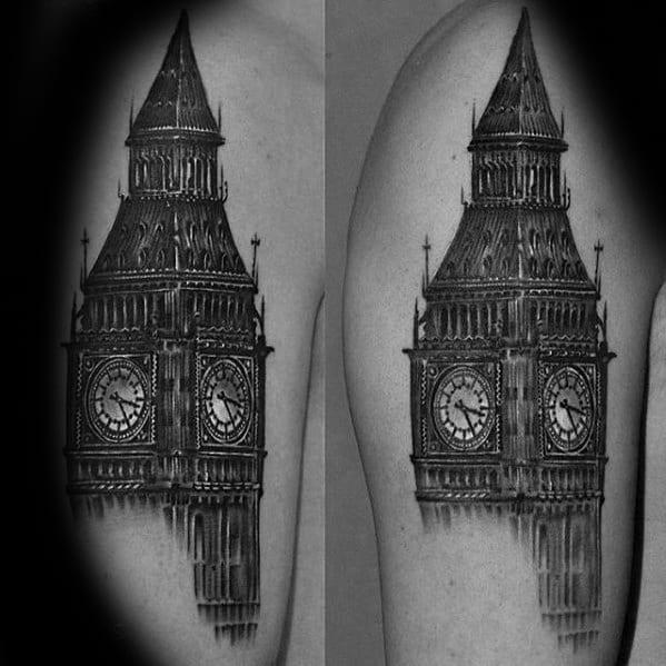 Incredible Big Ben Arm Tattoos For Men