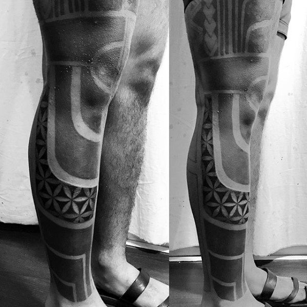 Incredible Blackout Sleeve Tattoos For Men