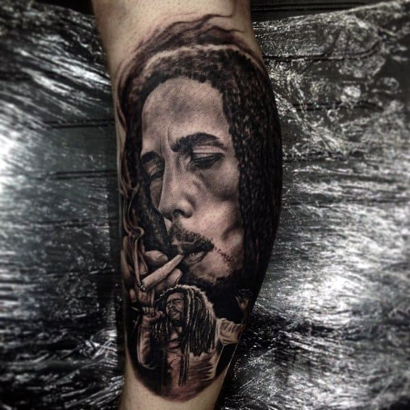 60 Bob Marley Tattoos For Men - Jamaican Design Ideas