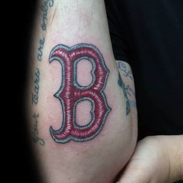 Incredible Boston Red Sox Tattoos For Men On Outer Forearm