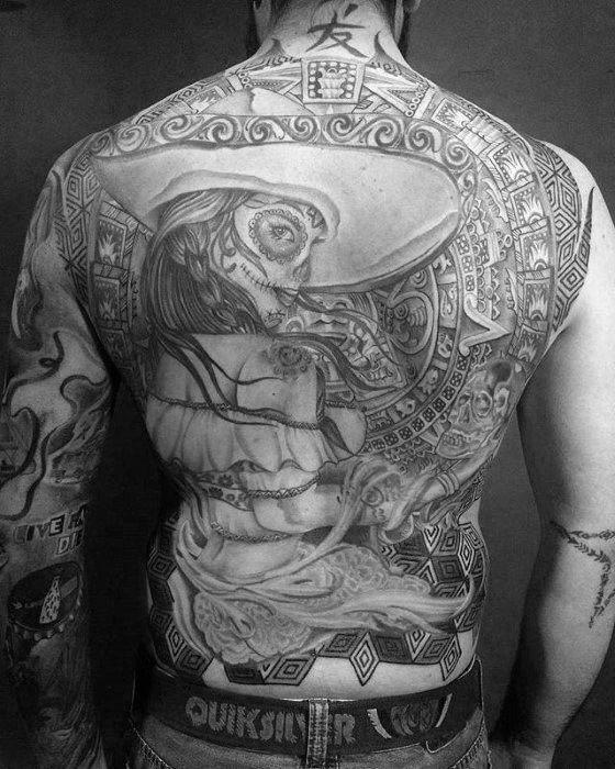 Incredible Catrina Tattoos For Men