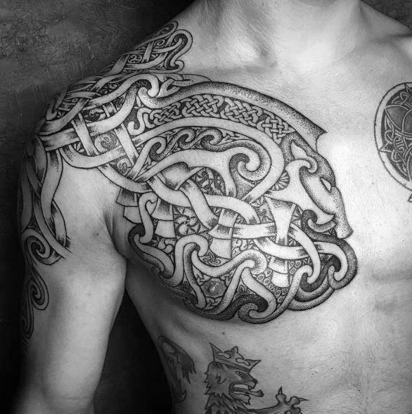 Incredible Celtic Wolf Tattoos For Men