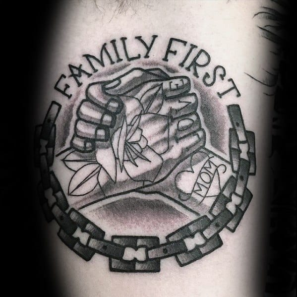 Incredible Chan Family First Handshake Tattoos For Men On Arm