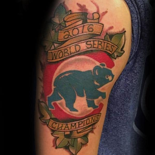 Incredible Chicago Cubs Tattoos For Men On Arm