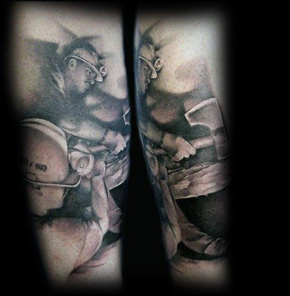 Incredible Coal Mining Tattoos For Men