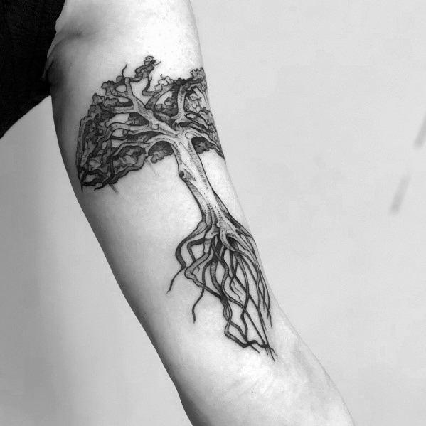 Incredible Cool Tree Tattoos For Men