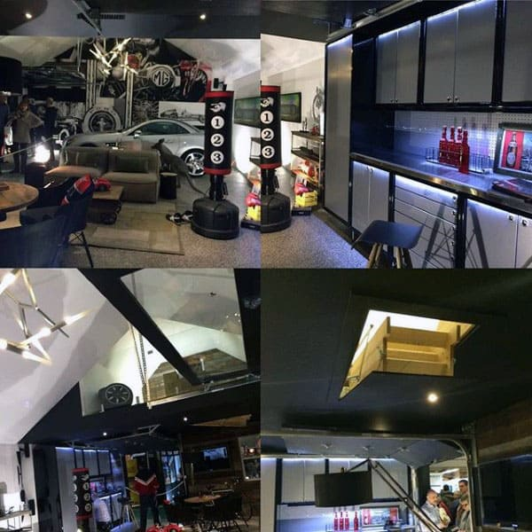 Incredible Custom Man Cave Organized Garage Design