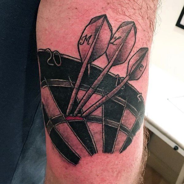 Incredible Dart Tattoos For Men On Outer Arm