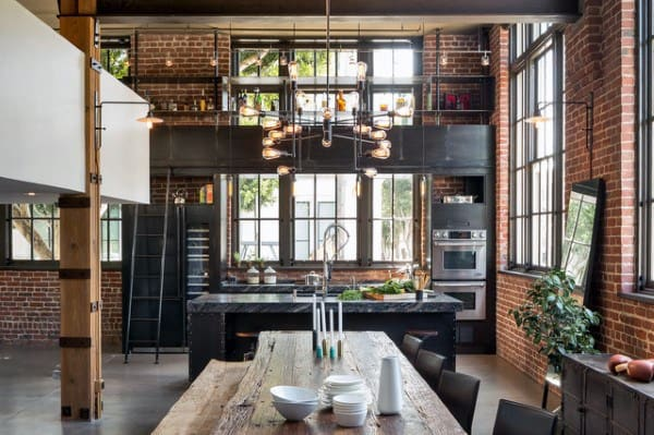 Incredible Dining Room And Kitchen Open Concept Loft Ideas