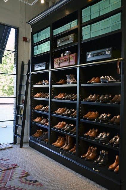 Incredible Dress Shoe Closet Wall Shelving For Men