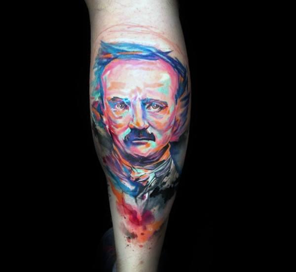 Incredible Edgar Allan Poe Tattoos For Men