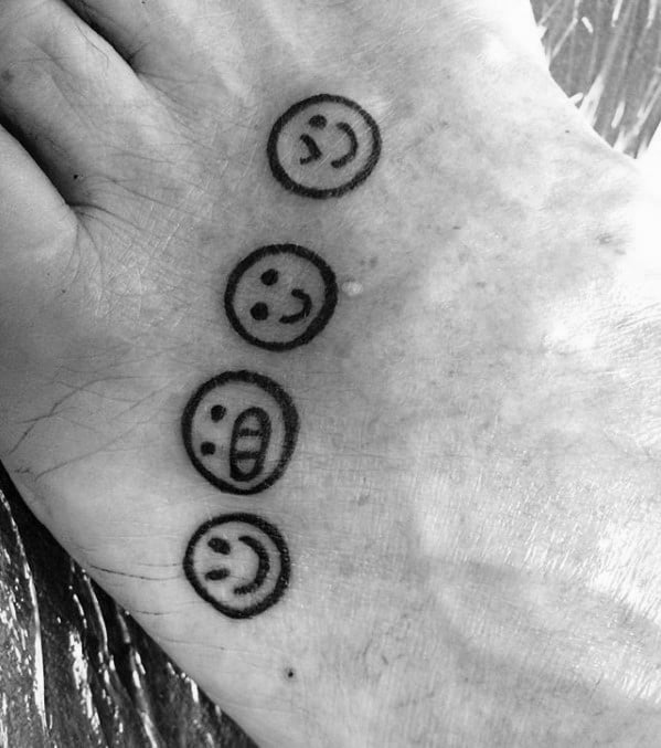 Incredible Emoji Tattoos For Men On Feet