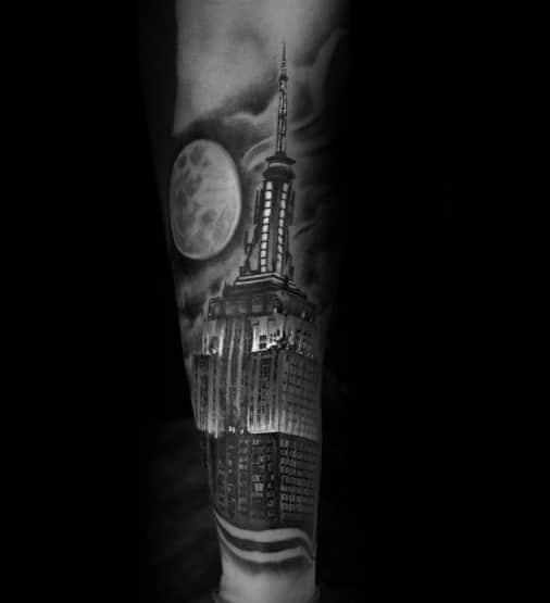 Incredible Empire State Building Tattoos For Men