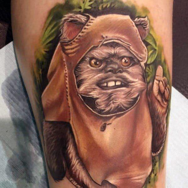 Incredible Ewok Tattoos For Men