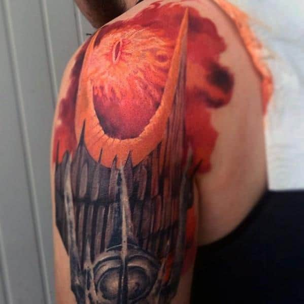 Incredible Eye Of Sauron Tattoos For Men On Arm