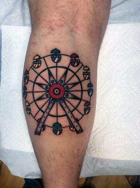Incredible Ferris Wheel Tattoos For Men