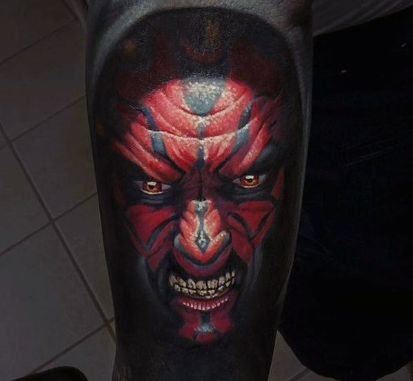 Incredible Forearm Darth Maul Tattoos For Men