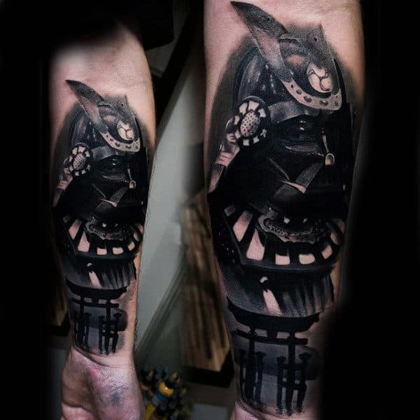 Incredible Forearm Sleeve For Men Of Japanese Samuari