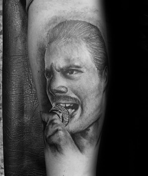 Incredible Freddie Mercury Tattoos For Men