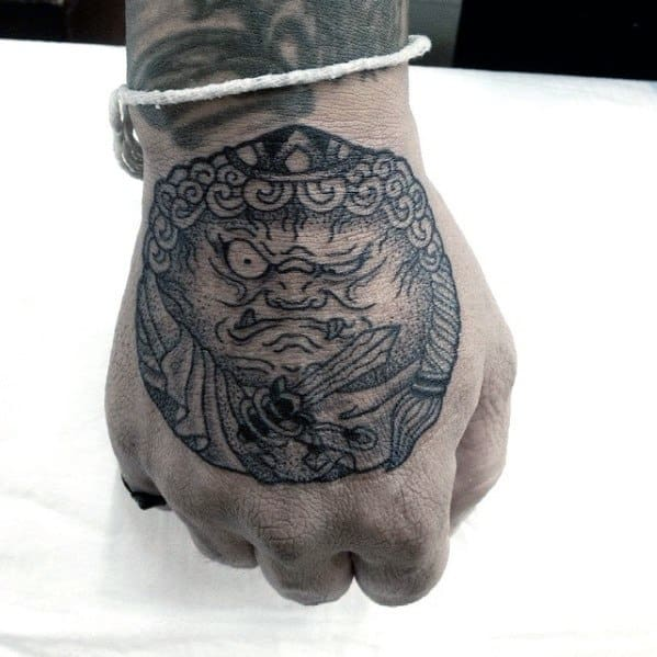 Incredible Fudo Myoo Tattoos For Men On Hand