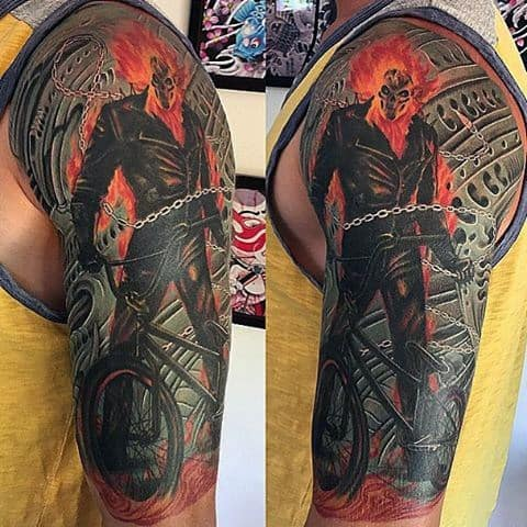 Incredible Ghost Rider Tattoos For Men