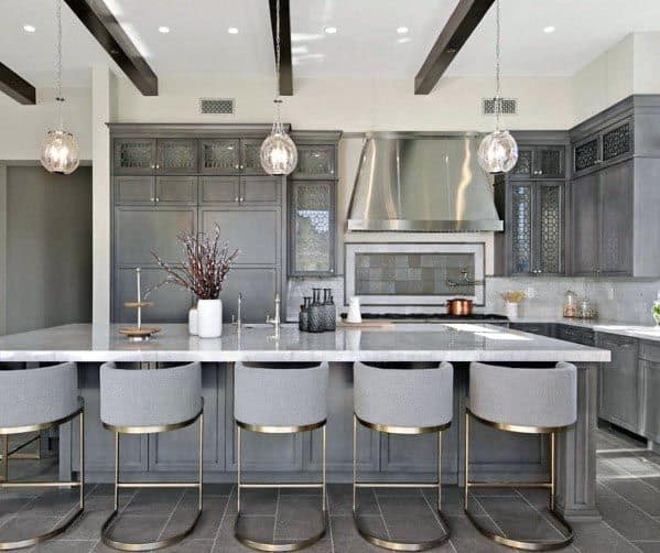 Incredible Grey Kitchen Cabinet Design Ideas