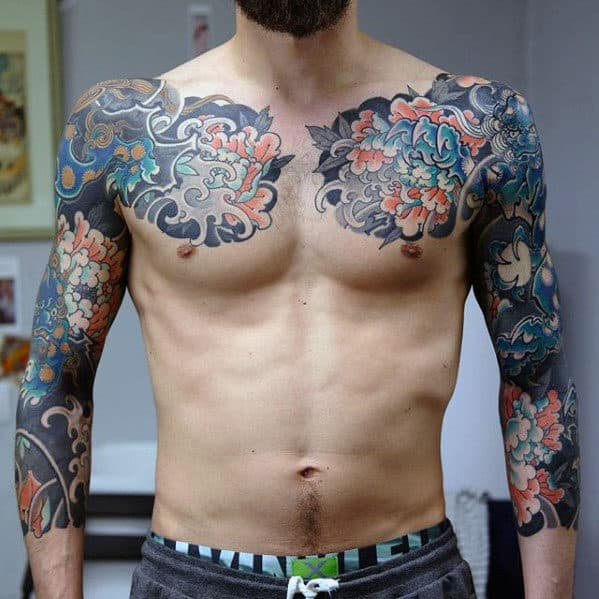 Incredible Half Sleeve Japanese Flower Tattoo Ideas For Men