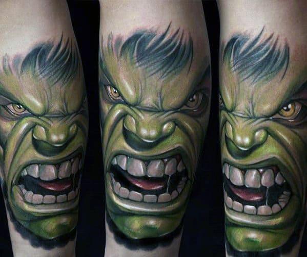 Incredible Hulk Guys Marvel Forearm Tattoo