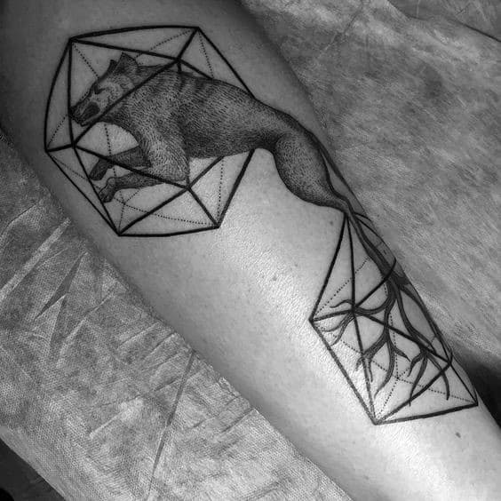 Incredible Icosahedron Tattoos For Men
