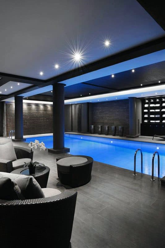 Incredible Indoor Swimming Pool Home Basement Modern