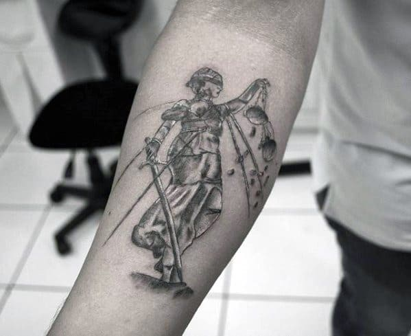 Incredible Inner Forearm Metallica Tattoos For Men
