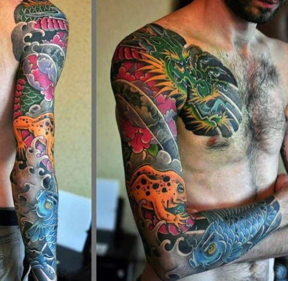 Incredible Japanese Frog Tattoos For Men