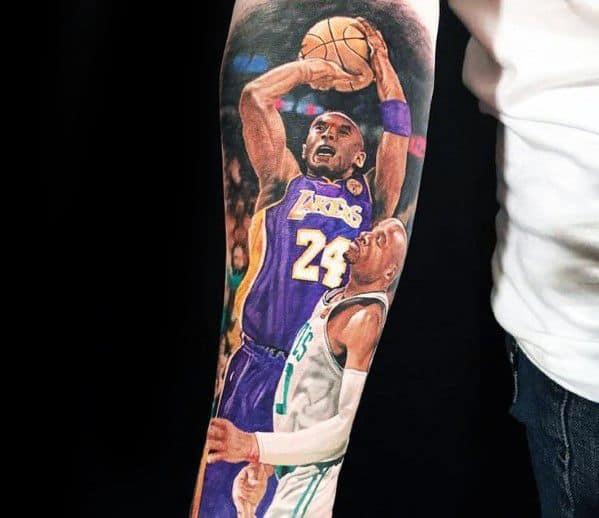 Incredible Kobe Bryant Tattoos For Men On Forearm