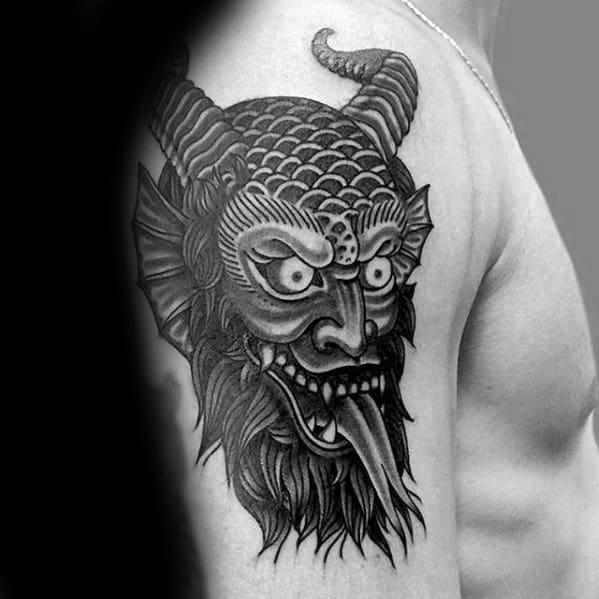 Incredible Krampus Tattoos For Men