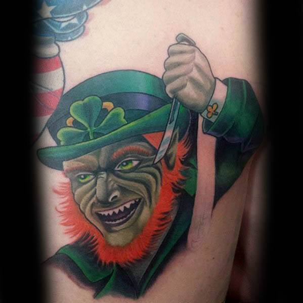 Incredible Leprechaun Tattoos For Men