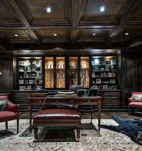21 Best Home Office Design Ideas For Men: Top 100 Best Gun Room Designs