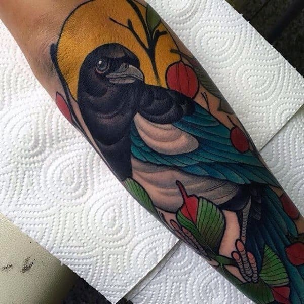 Incredible Magpie Tattoos For Men